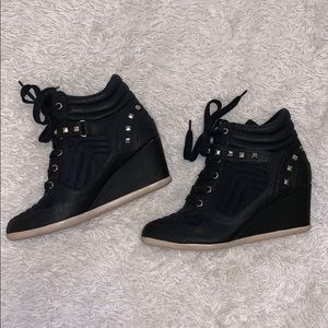 x Studded Wedge Sneakers x